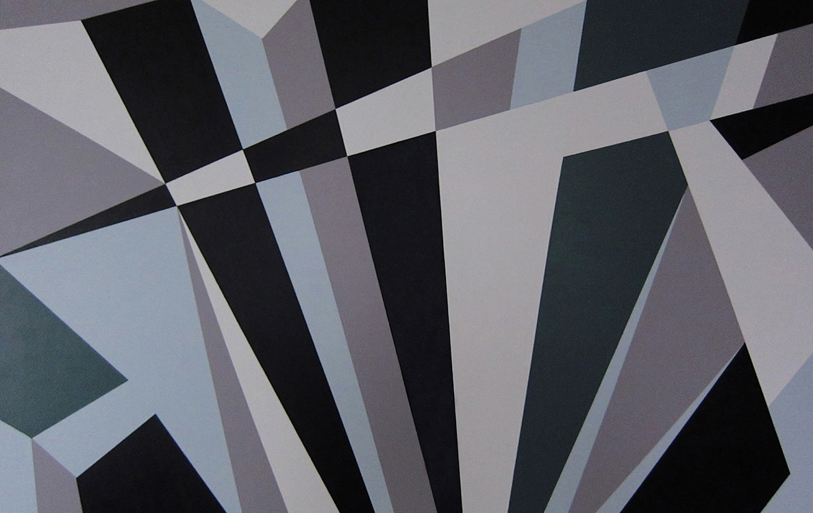Astarboard Dazzle Camouflage Canvas by Kristian Goddard featured in the book Dazzle Disguise and Disruption in War and Art