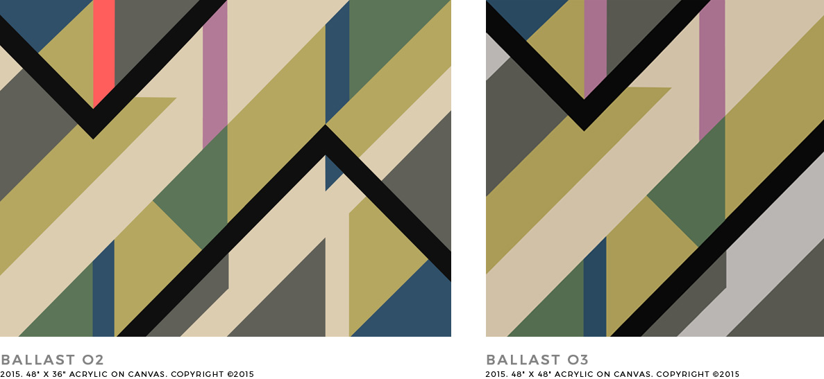 Ballast Abstract Geometric Painting on Canvas by Kristian Goddard