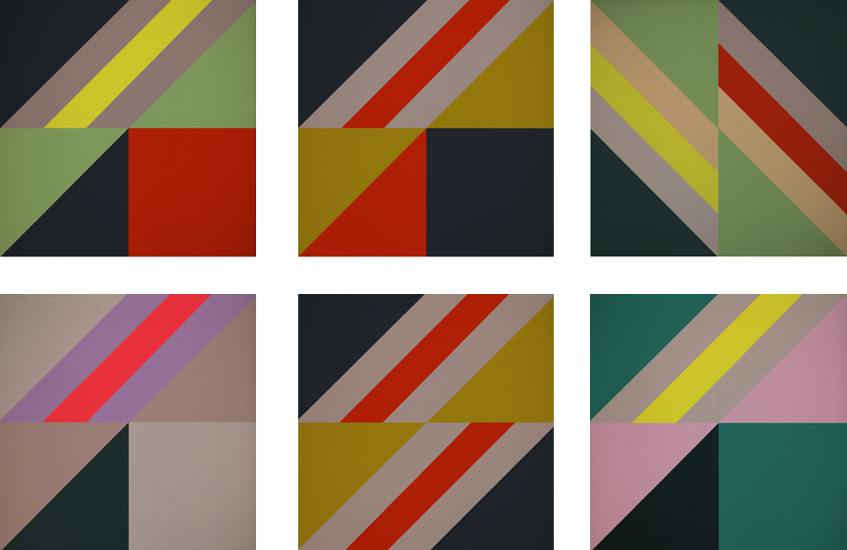 False Flags Series of Abstract Geometric Art Canvasses by Graphic Artisit Kristian Goddard