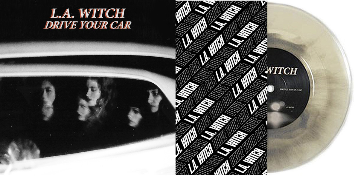 L.A. Witch 'Drive Your Car' 7 Inch Inner Sleeve Artwork by Kristian Goddard