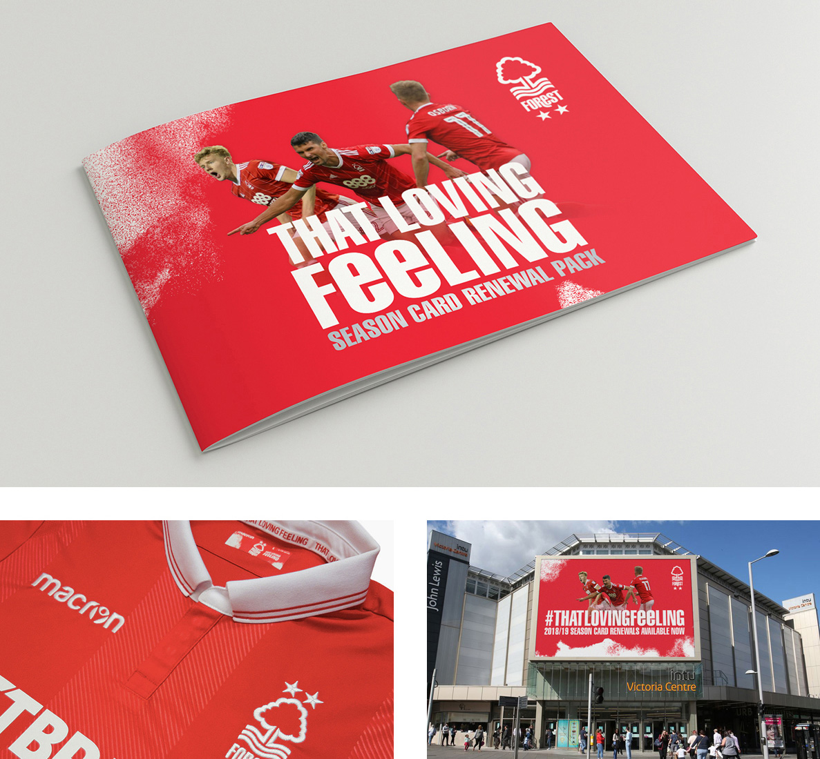 Nottingham Forest 'That Loving Feeling' Marketing Campaign and Season Card Renewal Pack Graphic Design by Kristian Goddar