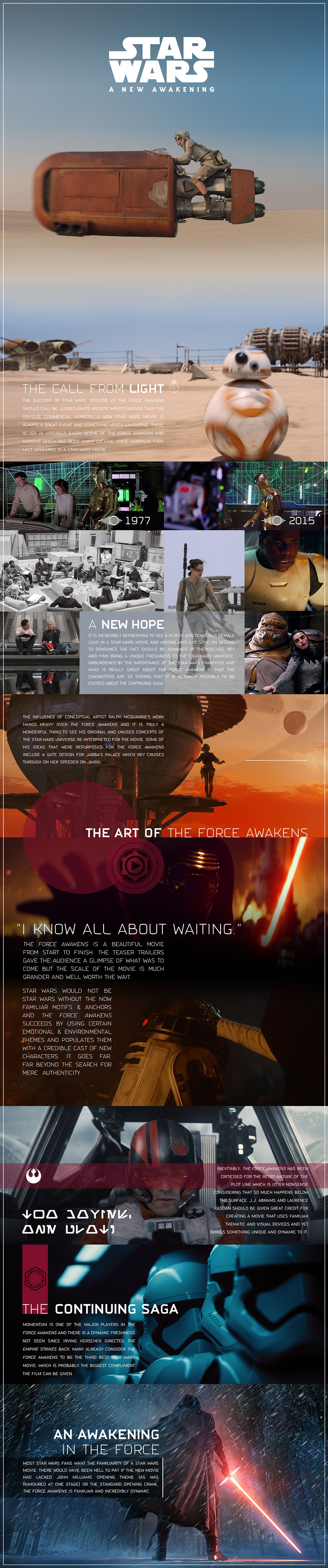 Star Wars The Force Awakens Infographic Blog Essay Defending the Retro Nature of the New Star Wars Movie Info Graphic Kylo Ren Rey Finn Luke Skywalker Han Solo JJ Abrams BB-8 by Kristian Goddard